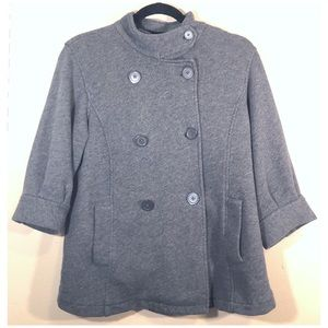 Gap Maternity Gray Button Up Peacoat Style Jacket